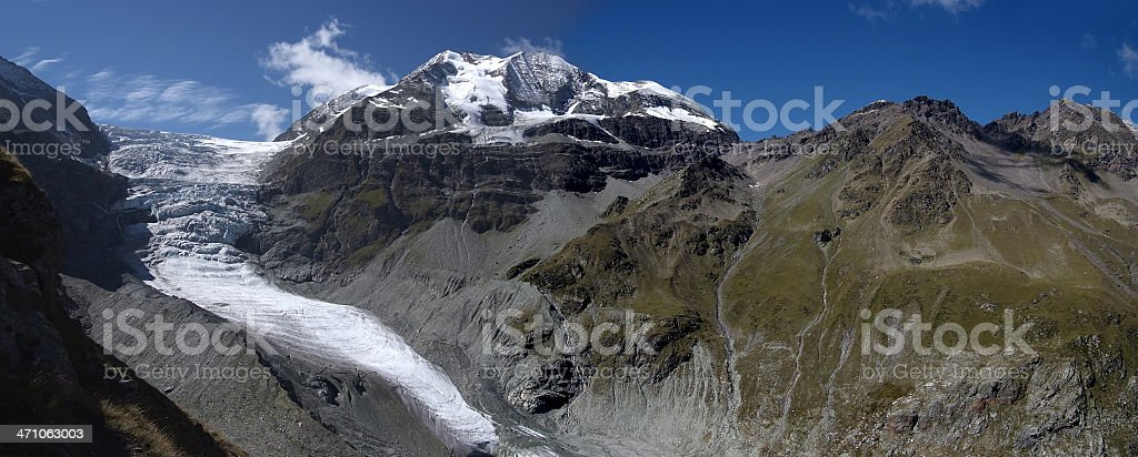 Tourtemagne Glacier royalty-free stock photo