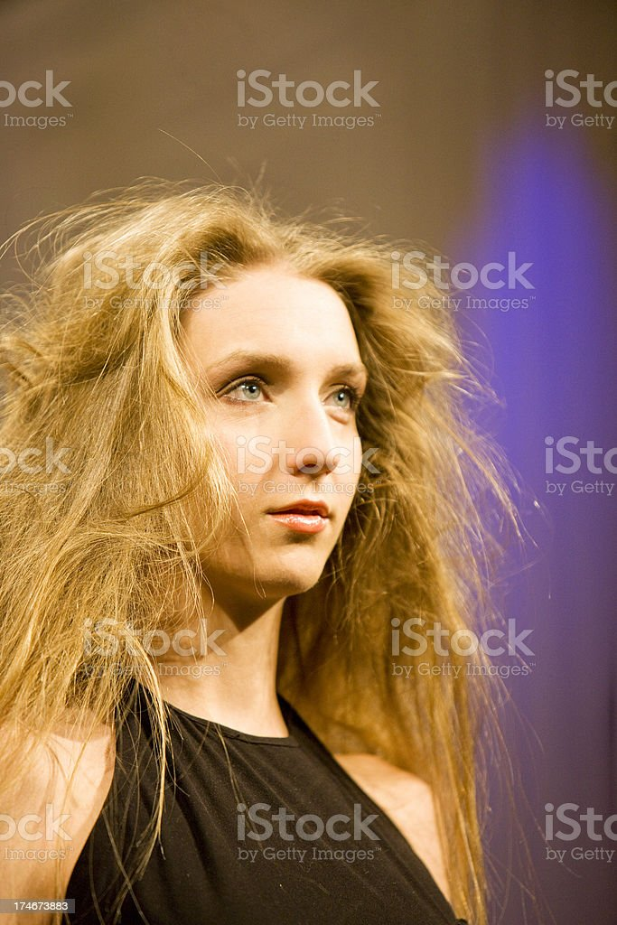 Tousled Hairstyle royalty-free stock photo
