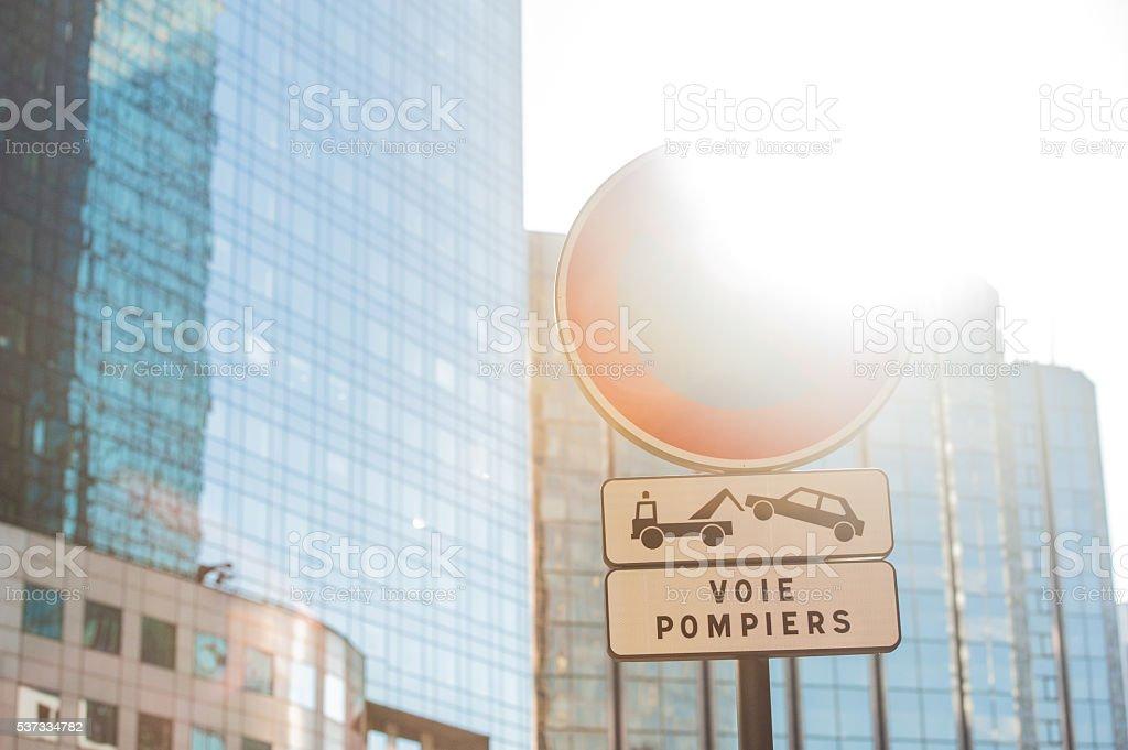 Tow Away No Parking Sign stock photo