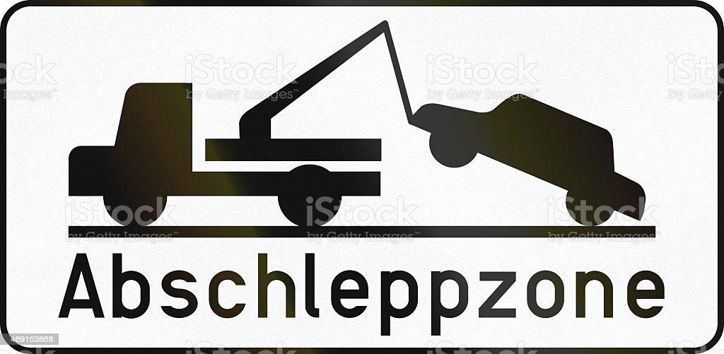 Tow Away Zone in Austria stock photo