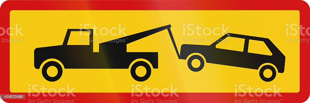 Tow Away Zone In Iceland stock photo