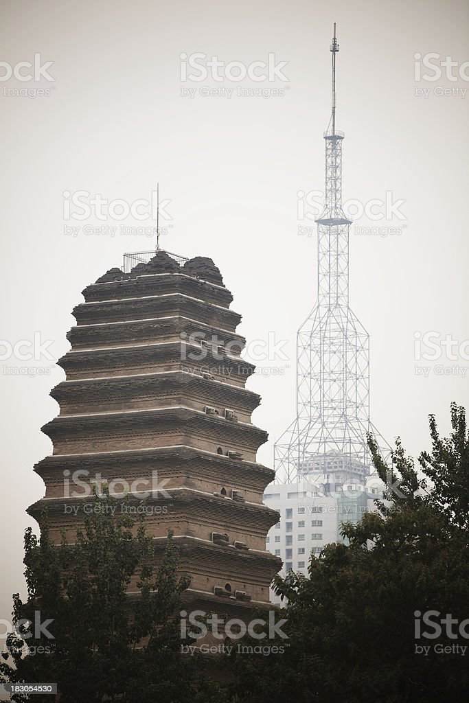 tow tower,china royalty-free stock photo