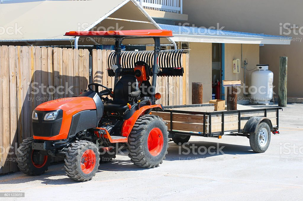 Tow Tractor stock photo