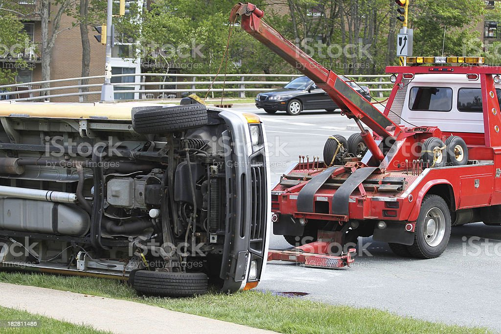Tow Truck At Work royalty-free stock photo
