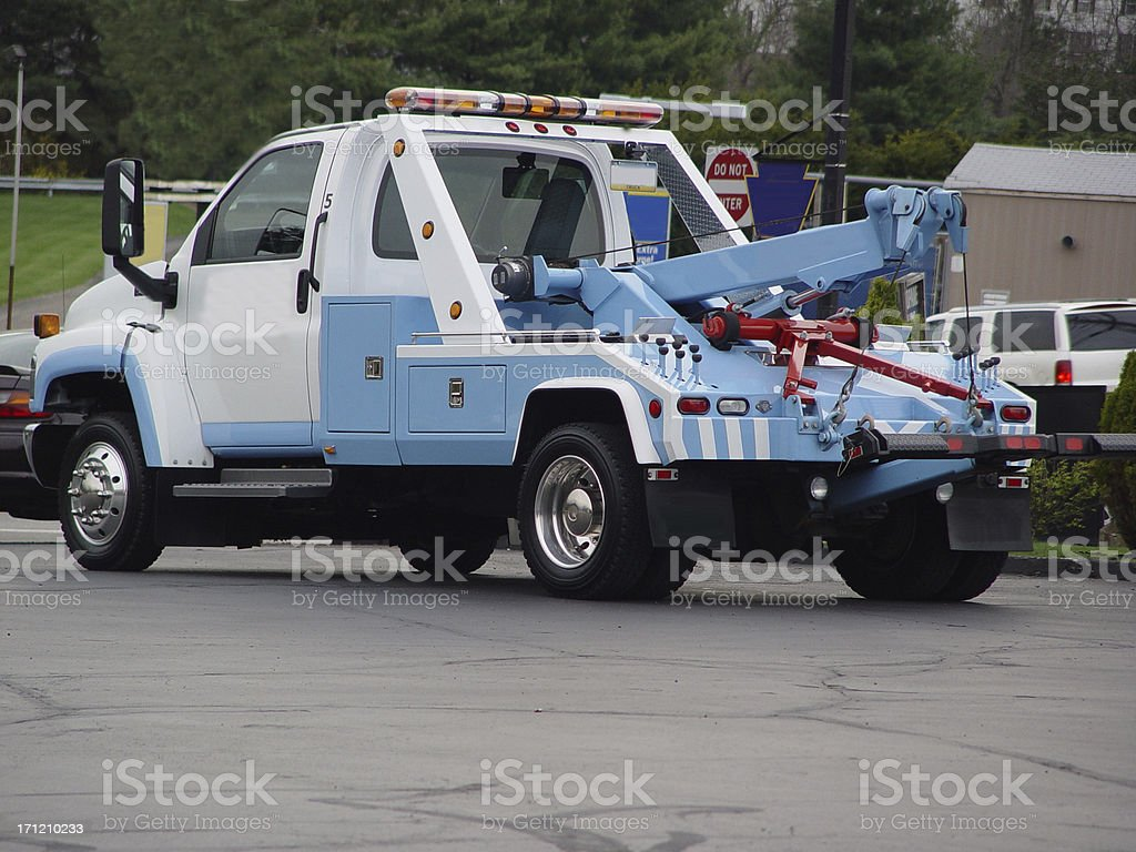 Tow Truck Diagonal stock photo