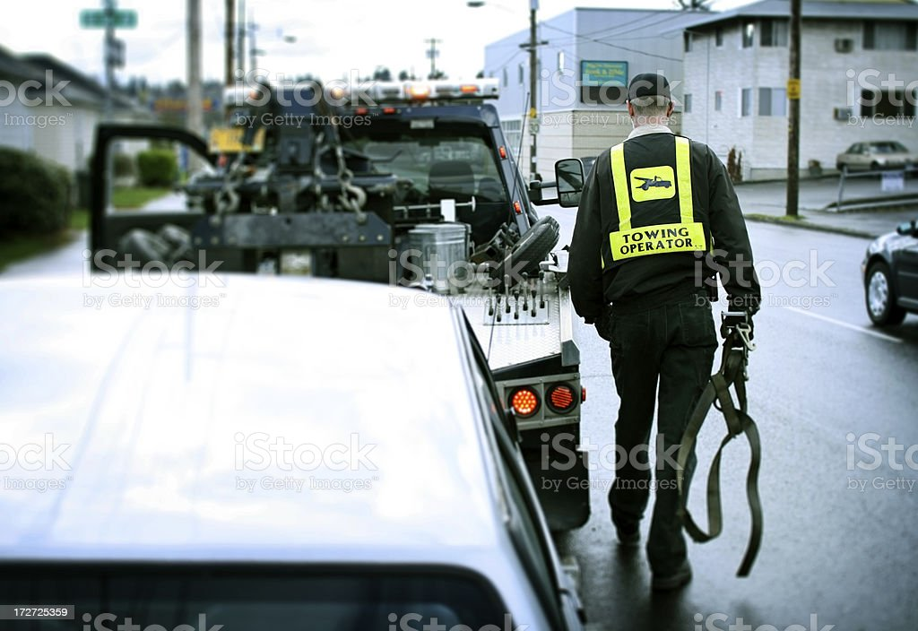 Tow Truck Driver stock photo