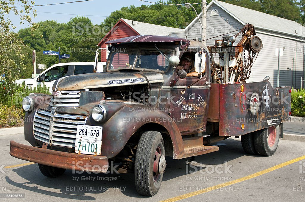 GMC Tow truck from 1941 royalty-free stock photo