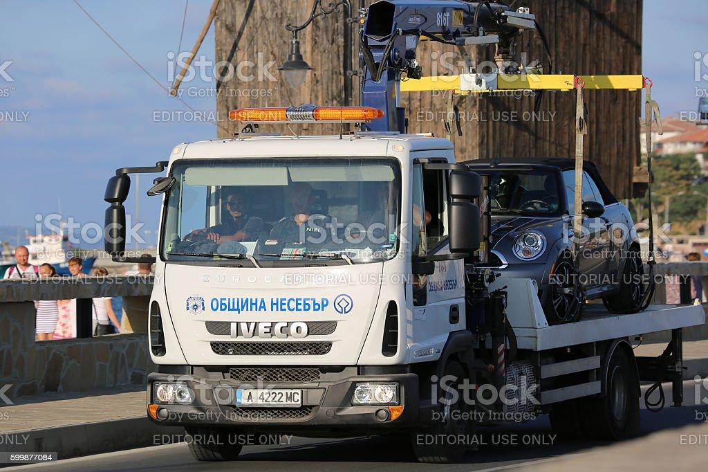 Tow Truck in Bulgaria stock photo