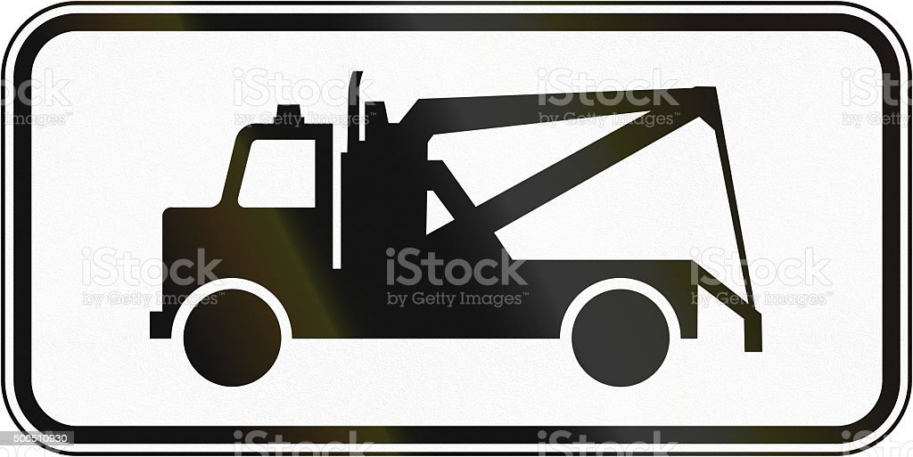 Tow Truck in Canada stock photo