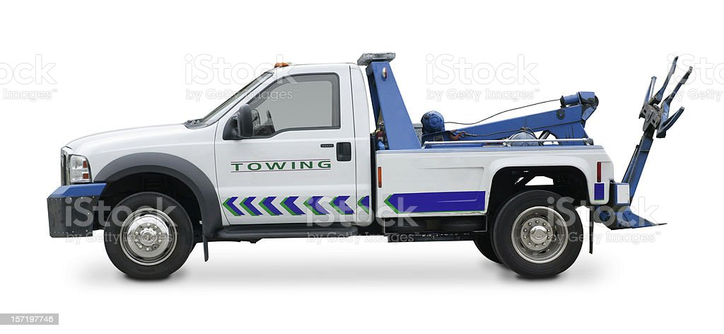 Tow truck royalty-free stock photo
