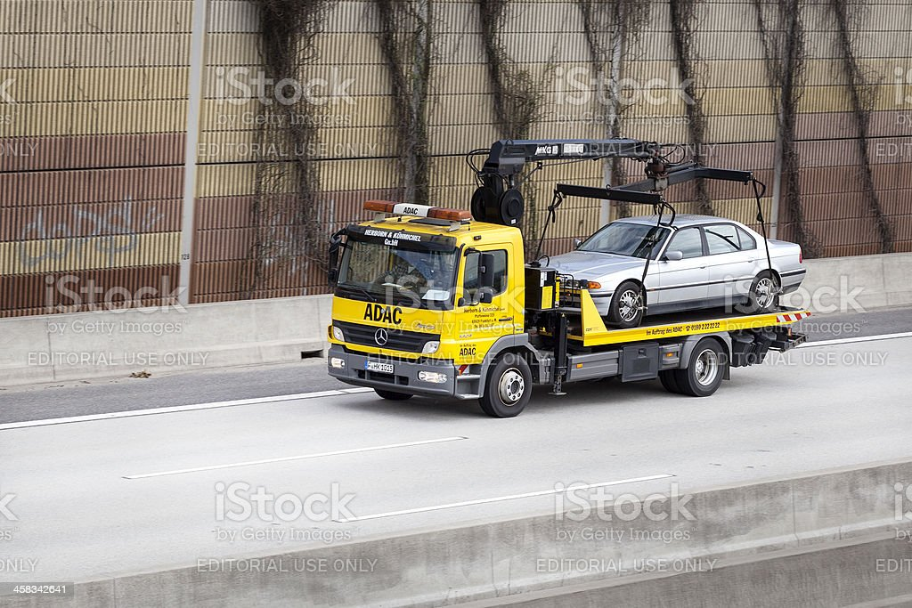 ADAC tow truck royalty-free stock photo