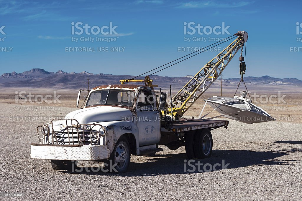 UFO Tow Truck royalty-free stock photo