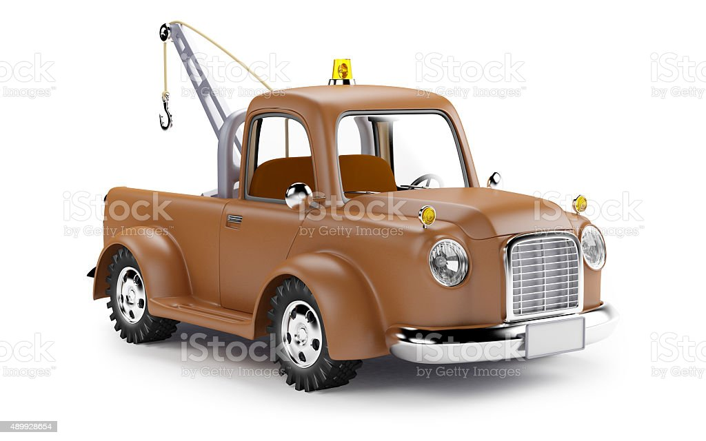 tow truck stock photo