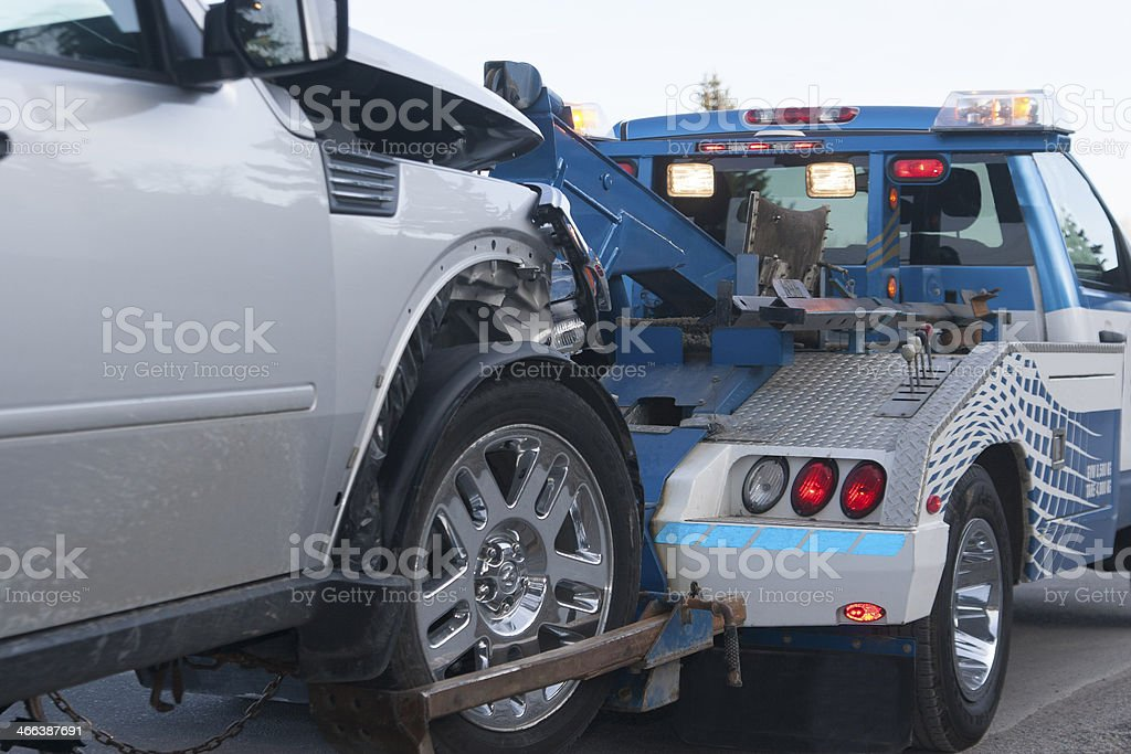 Tow Truck Wreck stock photo