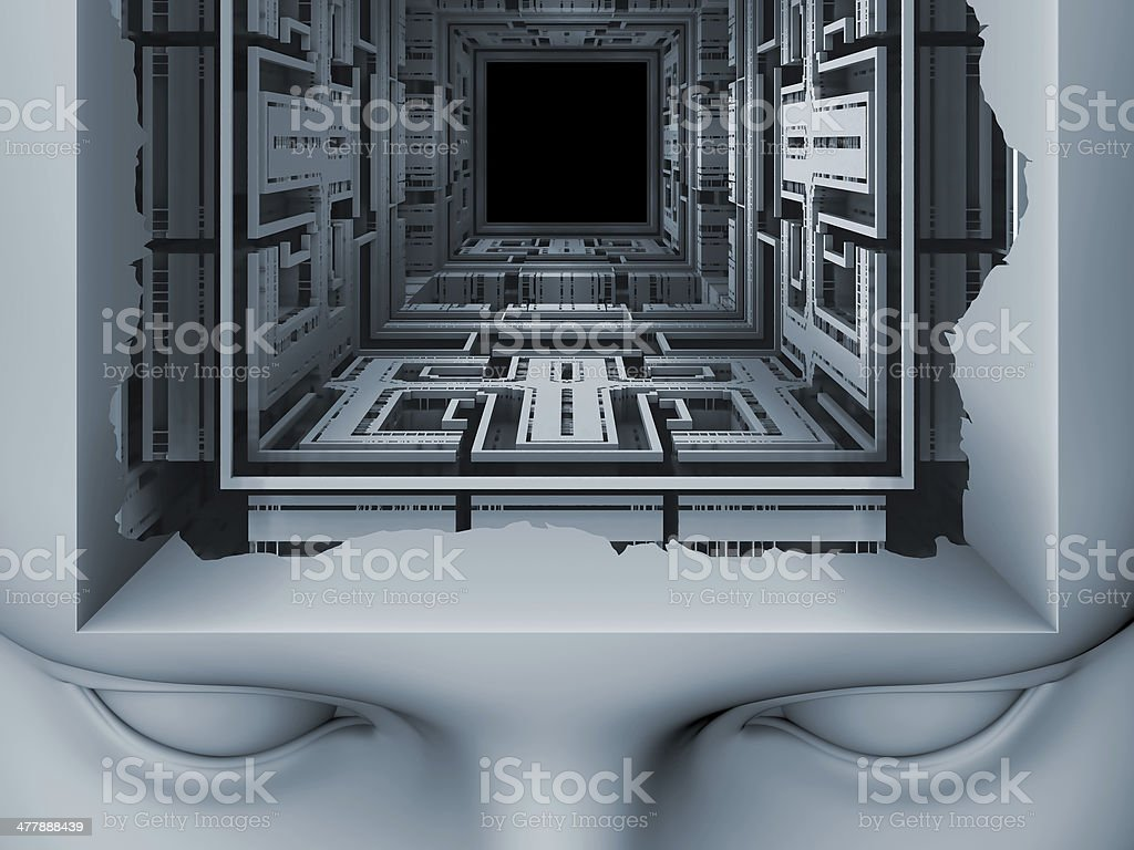 Toward Digital Mind royalty-free stock photo