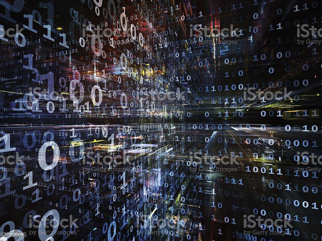 Toward Digital Technology royalty-free stock photo