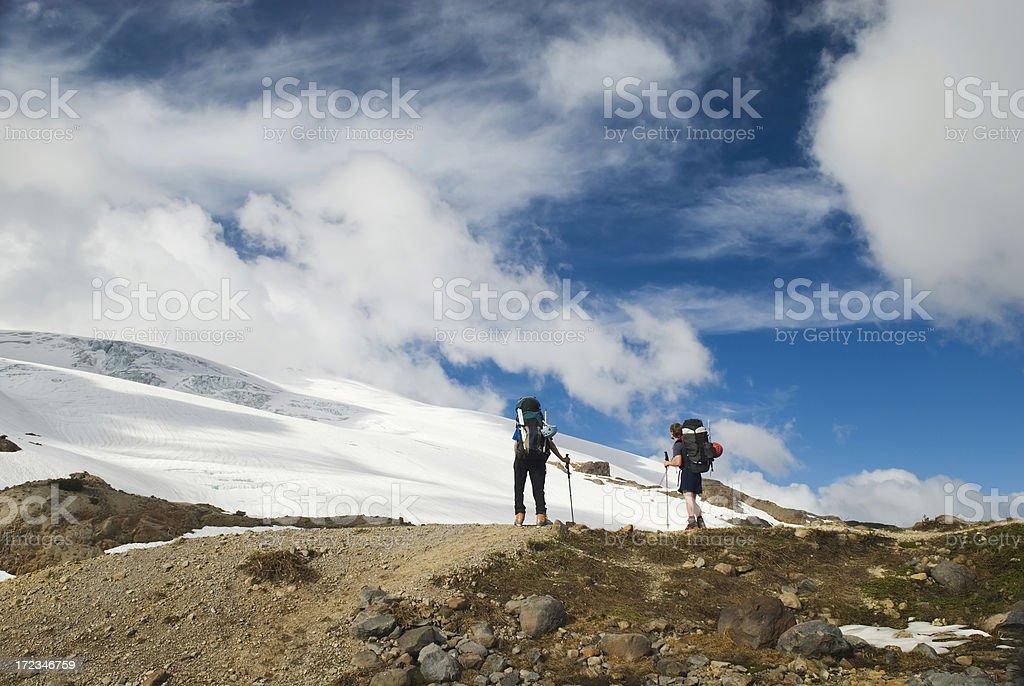 Toward Easton Glacier royalty-free stock photo