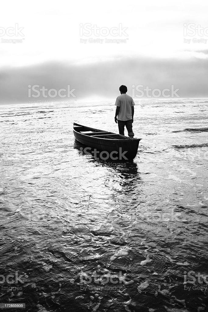 toward the horizon royalty-free stock photo