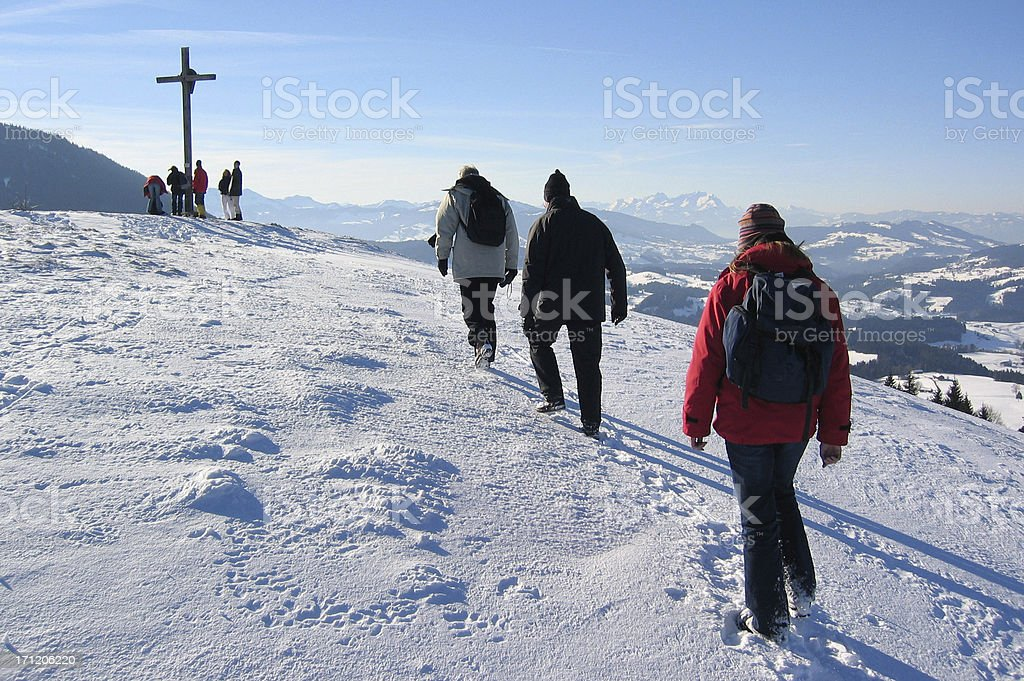 Toward the Summit royalty-free stock photo