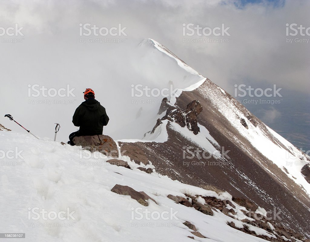 towards the summit royalty-free stock photo