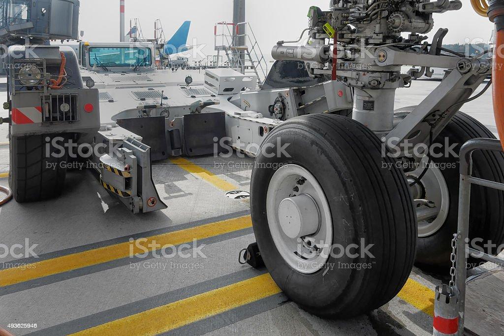 Towbarless Tractor stock photo