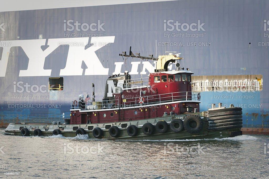 Towboat in the port of Savannah, Georgia, USA stock photo