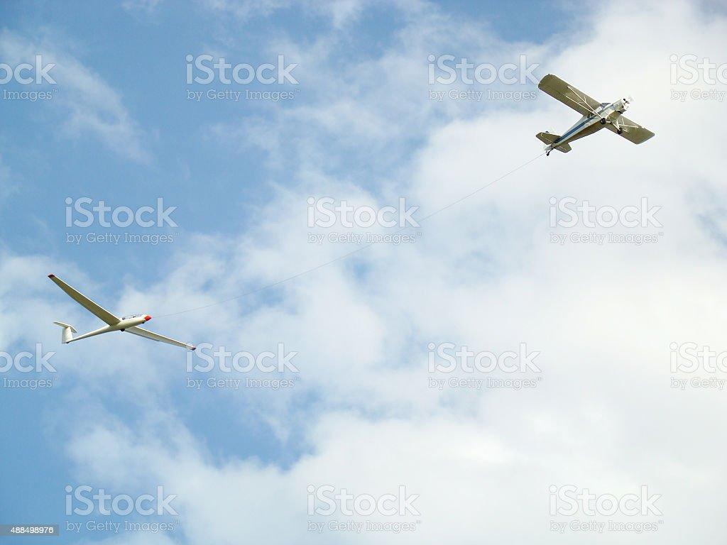 Planeador remolcado royalty-free 스톡 사진