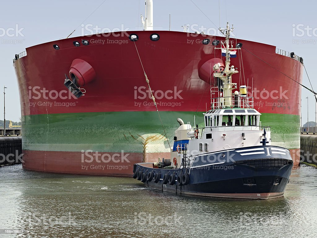 Towed Ship royalty-free stock photo
