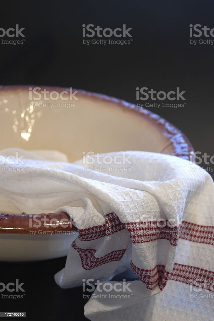 Towel and Bowl stock photo