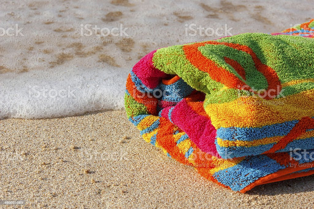 Towel beach royalty-free stock photo