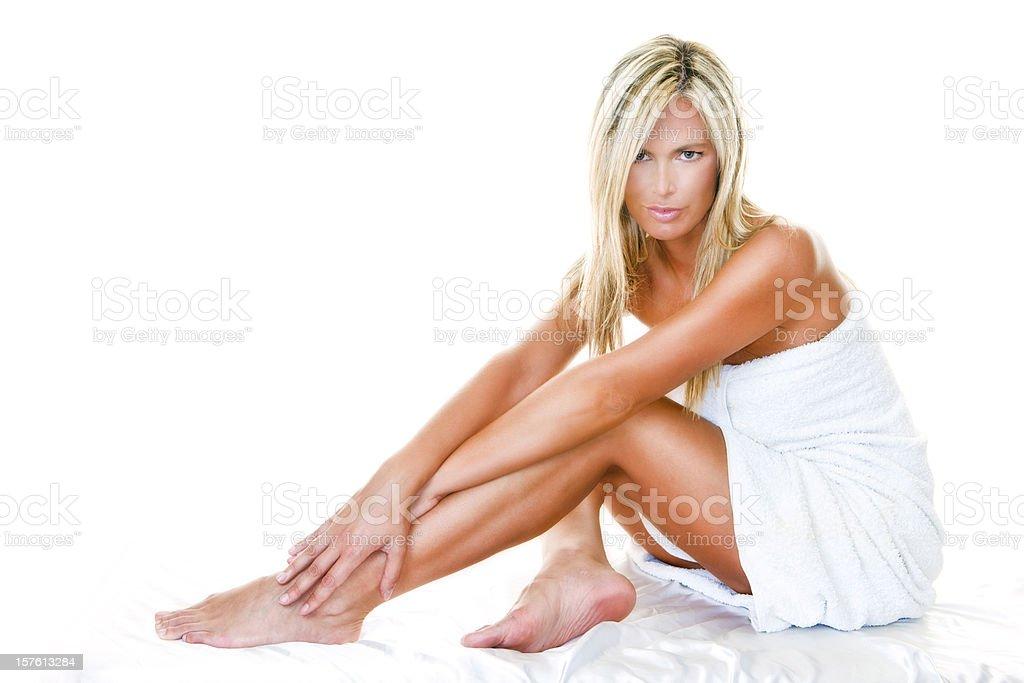 Towel beauty royalty-free stock photo