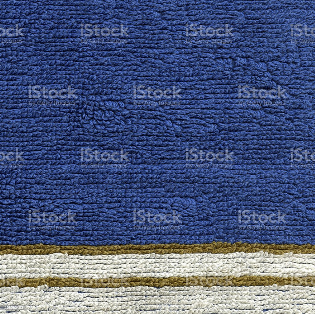 Towel Cloth Texture - Blue with Stripes XXXXL royalty-free stock photo
