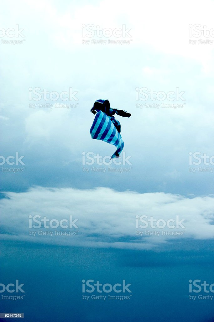 Towel in the Sky royalty-free stock photo