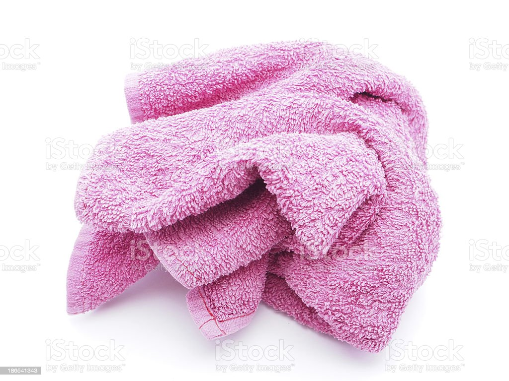 Towel on a white background royalty-free stock photo