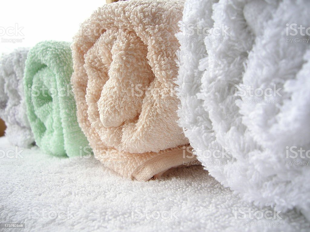 Towel Rolls royalty-free stock photo