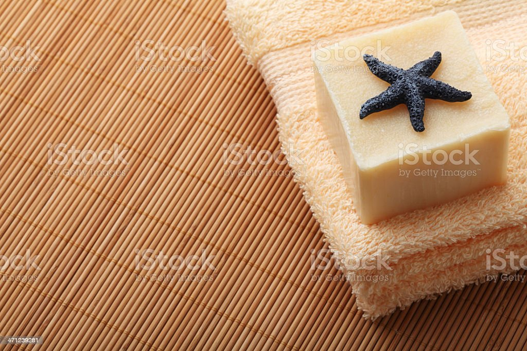 Towel with Soap royalty-free stock photo
