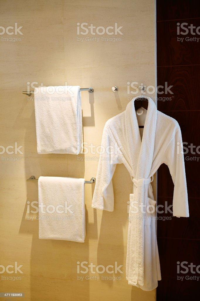 Towels & Bathrobe royalty-free stock photo