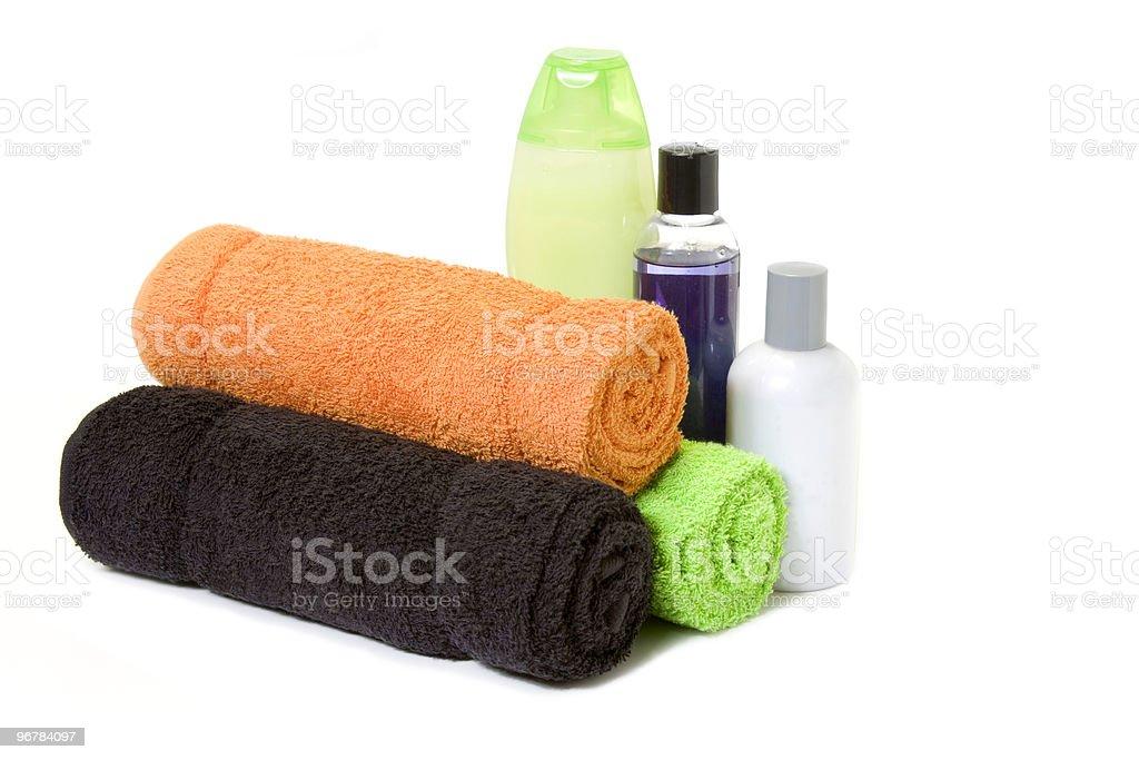 towels and bath stuff stock photo