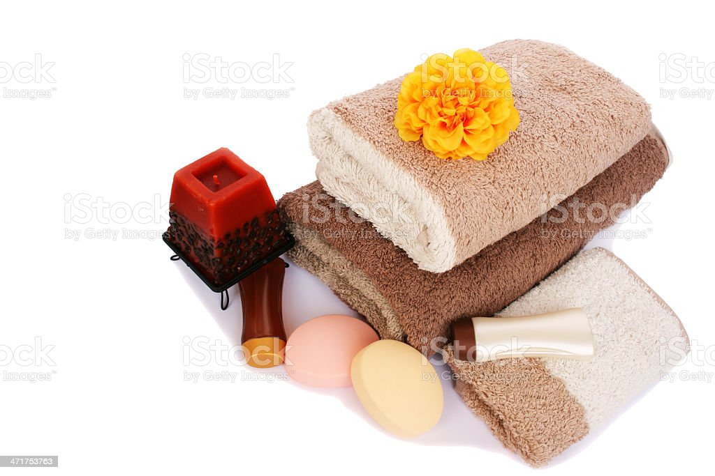 Towels and spa set royalty-free stock photo