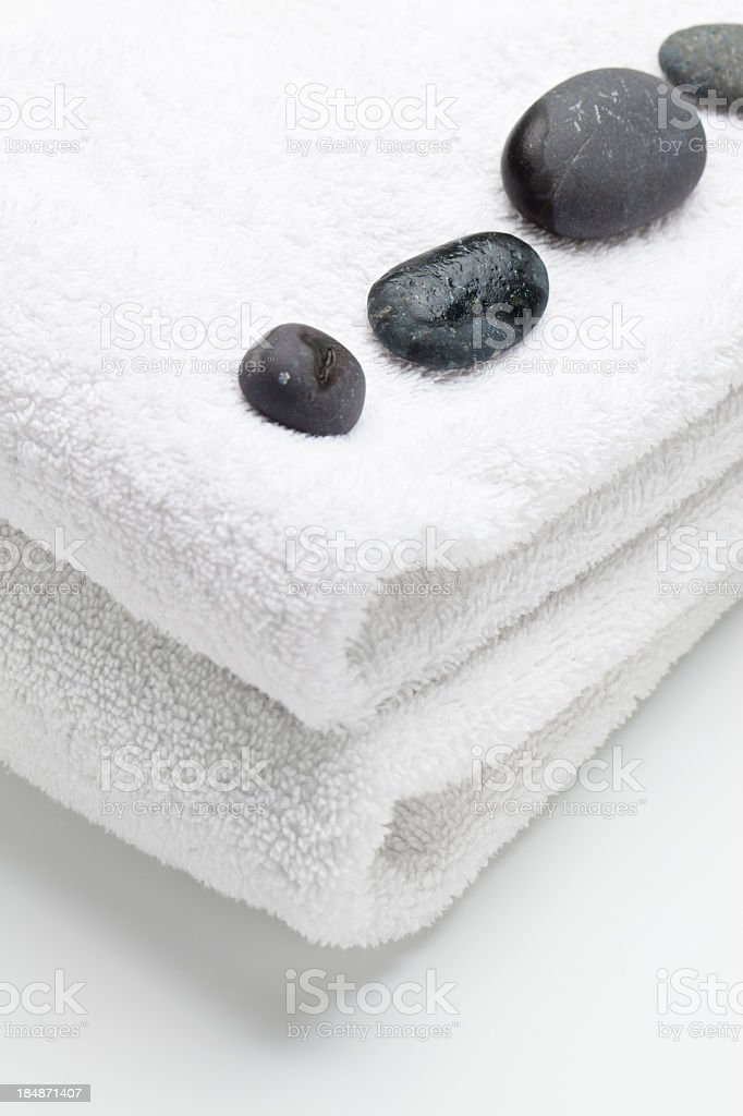 Towels and Stones royalty-free stock photo