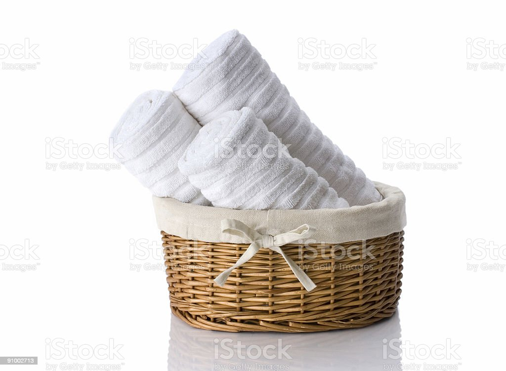 Towels In  Basket royalty-free stock photo