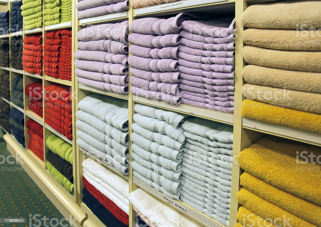 Towels in store royalty-free stock photo