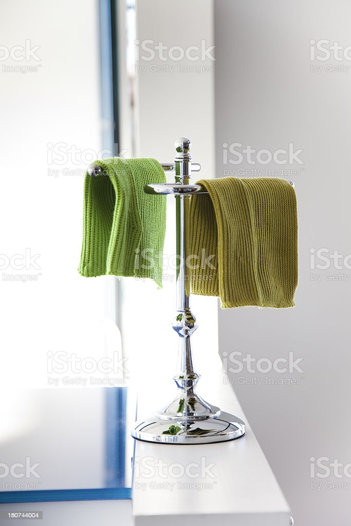 Towels In The Bathroom royalty-free stock photo