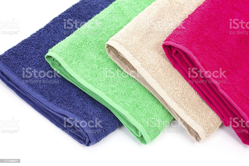 towels, located on a white background royalty-free stock photo
