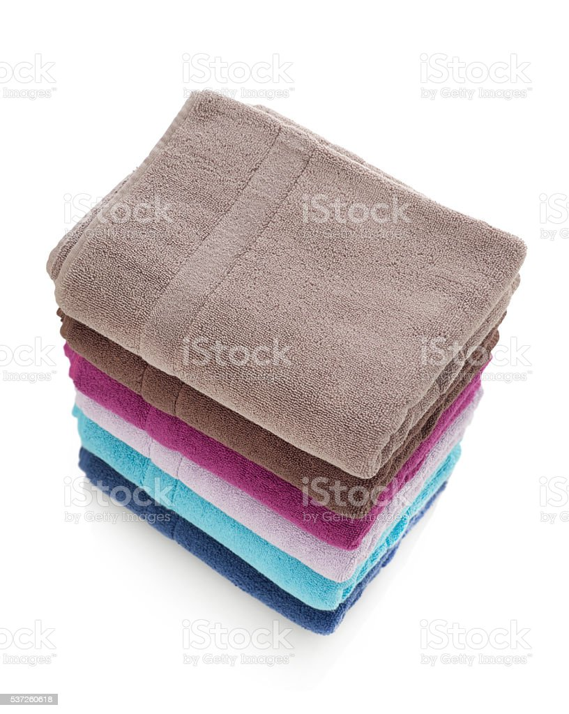 Towels stack stock photo