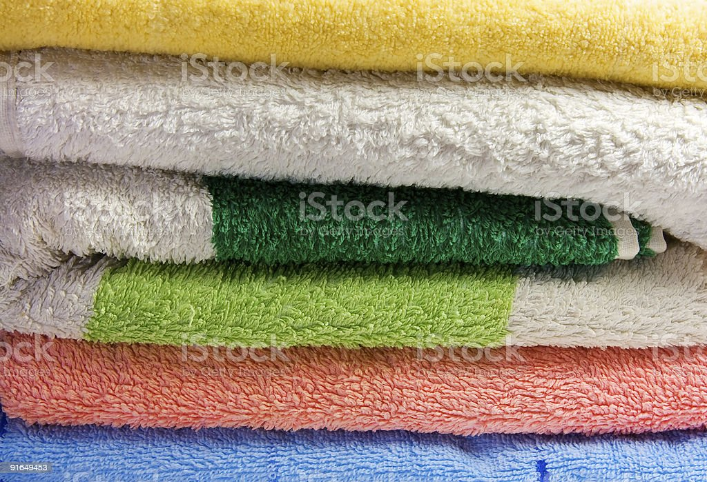 towels stack royalty-free stock photo