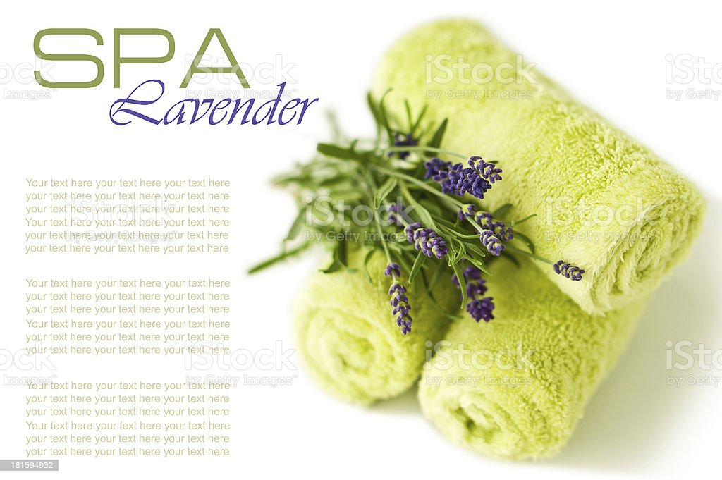 Towels with lavender royalty-free stock photo
