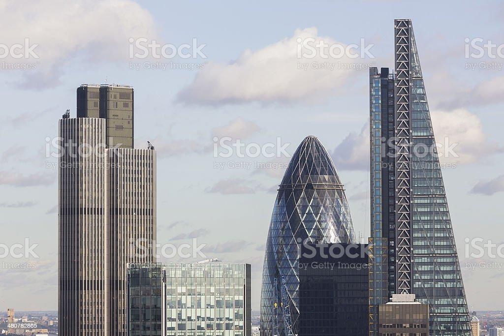 Tower 42, 122 Leadenhall Street and 30 St Mary Axe stock photo