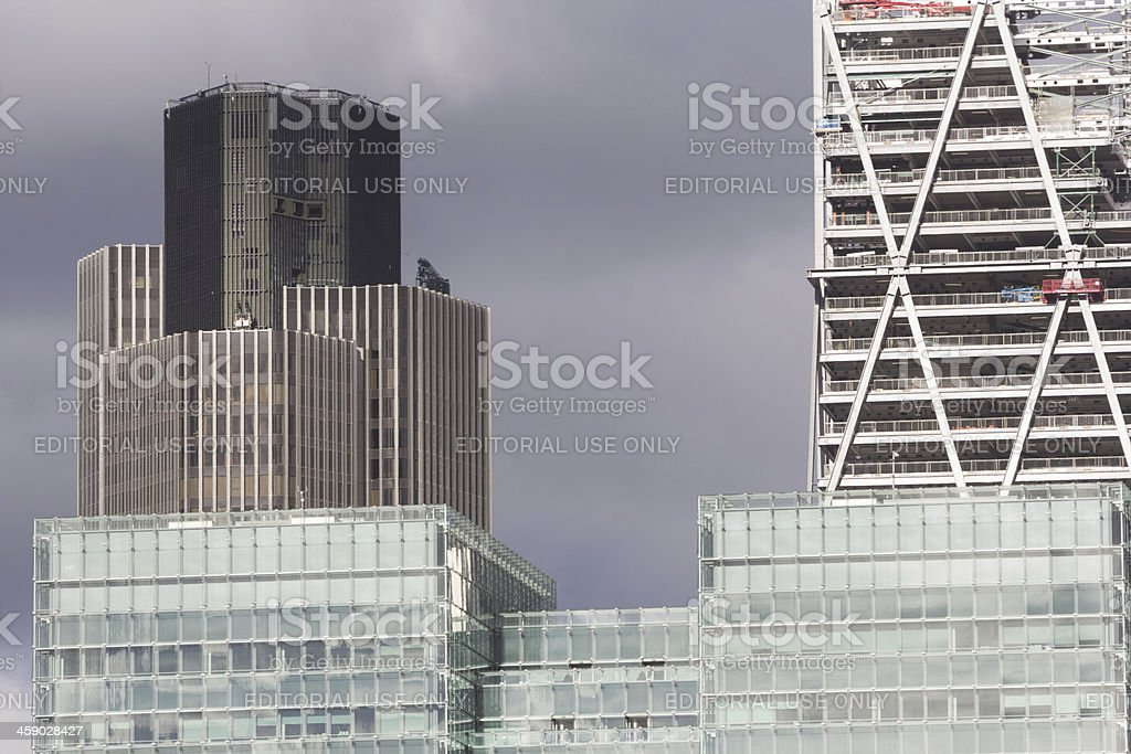 Tower 42 in the City of London, England royalty-free stock photo