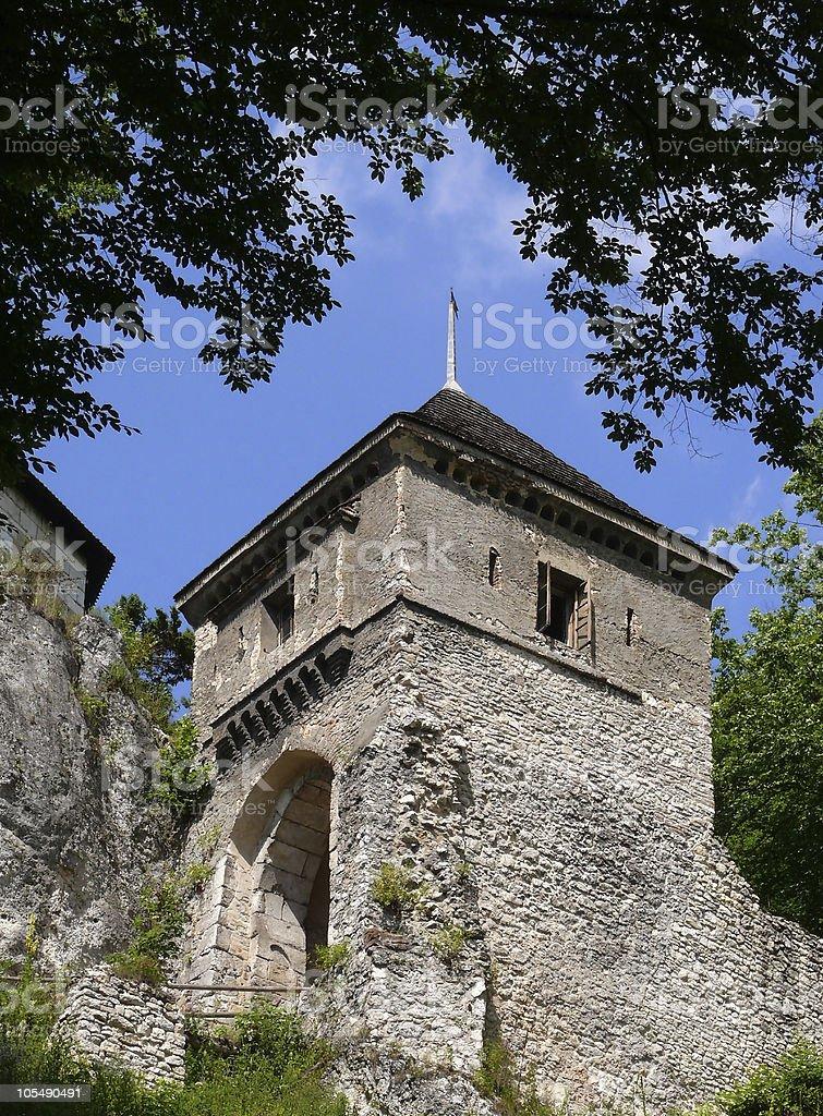 Tower und Tor zum castle Lizenzfreies stock-foto